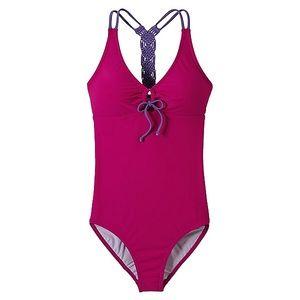 Prana Inez pink and Purple xl one piece swimsuit